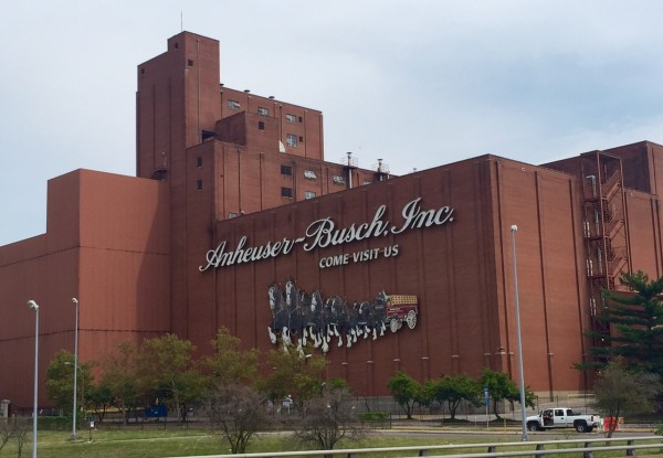 The race went directly by the Budweiser brewery. It is huge.