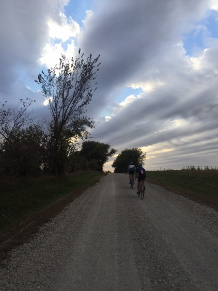 BIll and Andrew heading back towards Topeka last night.