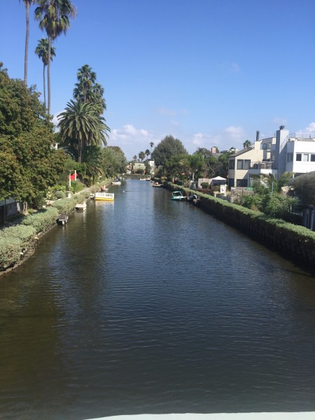 Some of the canal area of Venice Beach.