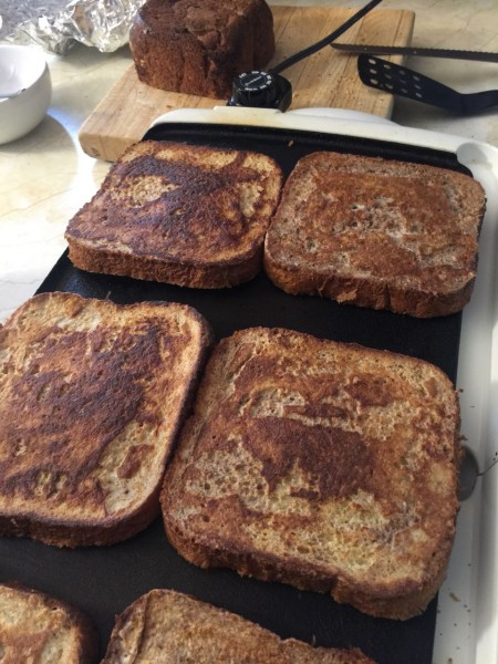 I made french toast this morning with fresh bread.  It was super yummy.