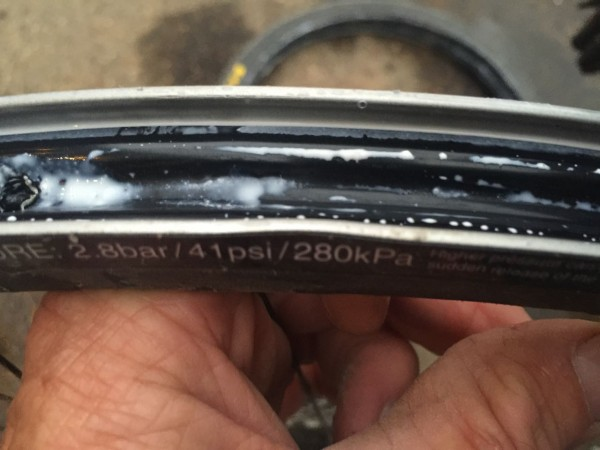 My rim was dented in a few places.
