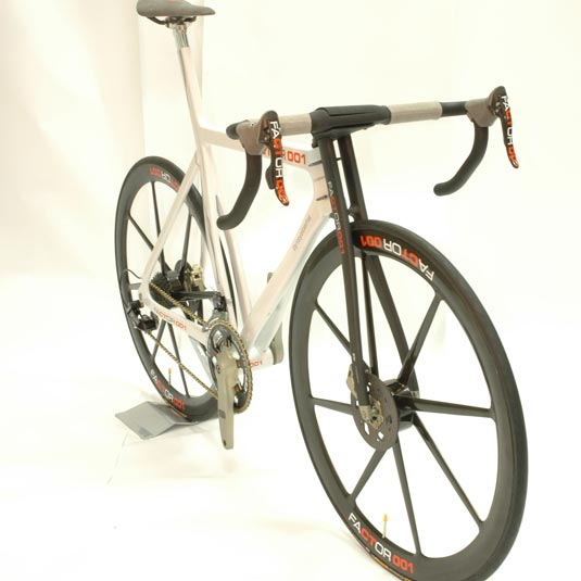 You can get this bike with built in sensors, along with carbon disc rotors, for a mere $27,500.