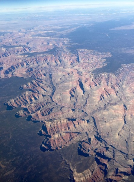The pilot said this was the grand canyon.  I'm not sure it is, but it is dramatic.  I love looking out the window flying.