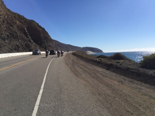 Riding along the coast after I flatted early.