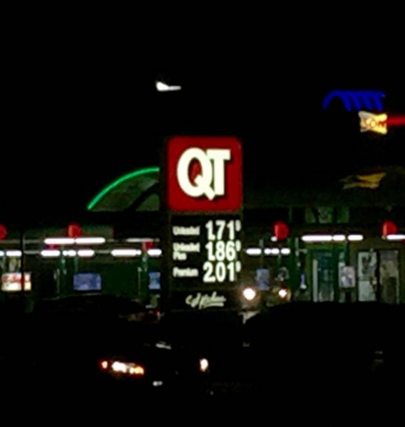 Gas prices in Oklahoma are always super low.  I don't remember gas this cheap in a long time.