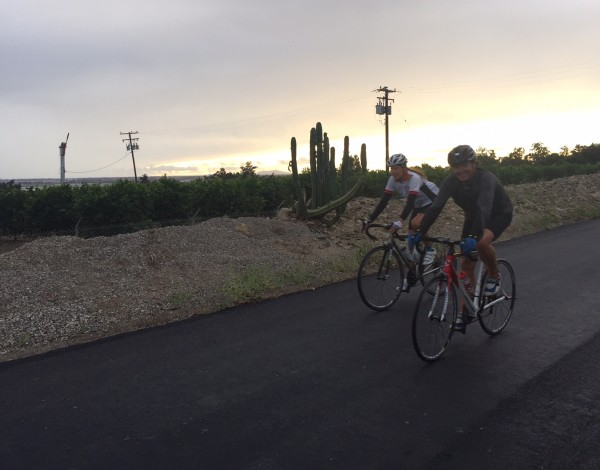 Jimmy Mac and Sue out riding yesterday at sunset. We got a little wet, but it felt pretty good.