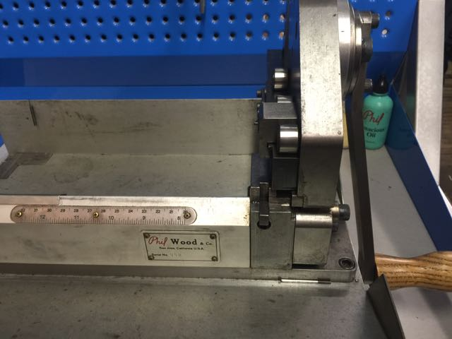 Any shop that has one of these, a Phil Wood spoke cutting machine, is a pretty good shop.