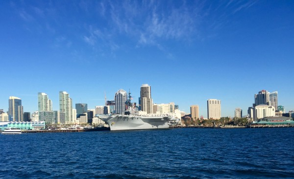 San Diego skyline from the ferry.