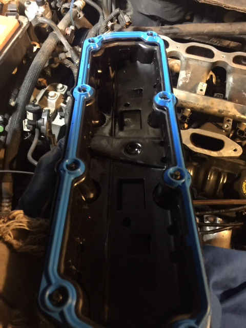 I had to take a lot of stuff off the top of the engine, so figured I'd change the valve cover gaskets while I have access.
