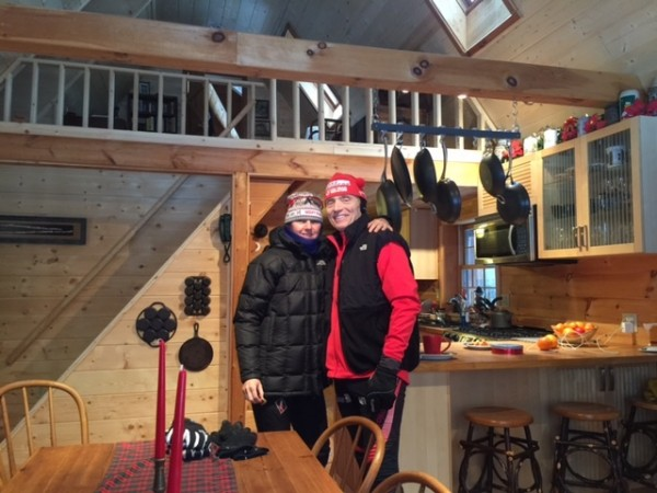 Trudi and Dennis dressed to head out to ski this morning.