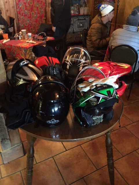 The snowmobilers take over.