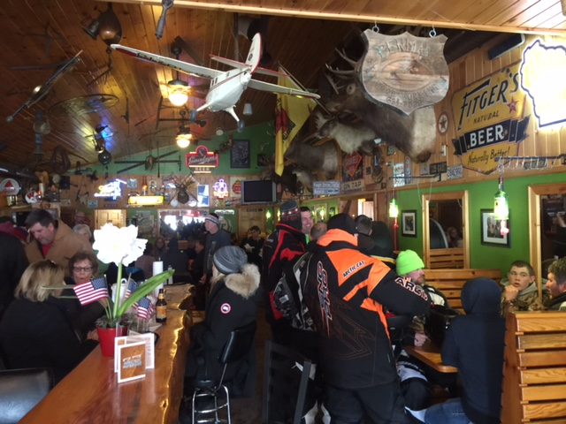 Sawmill Saloon yesterday.  Getting ready for the Packer's game.