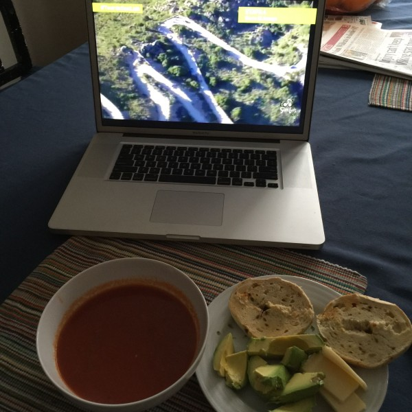 I've been having a bunch of soup recently.  And avocados.  Check out the climb on my computer in Argentina.  It was crazy.