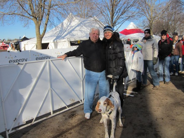 Otto, Trudi and Bromont at Cyclcross Nationals in Madison.