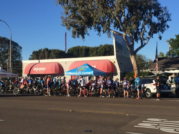 The Swamis Ride mets at Nytro Bike Shop in Encinitas at 8:10 on Saturday mornings.