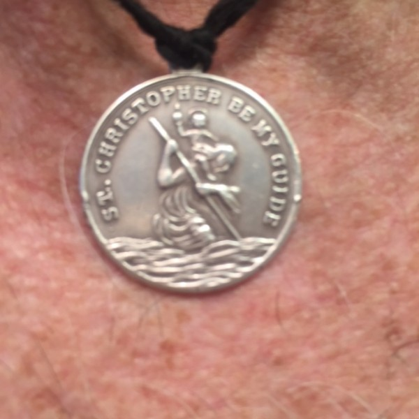 St. Christopher is the patron saint for travellers.