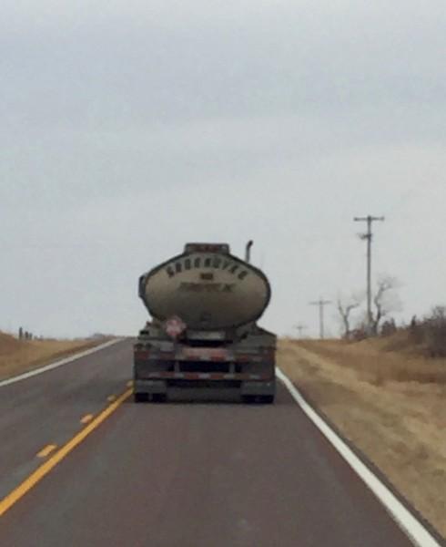 Dick truck driver.