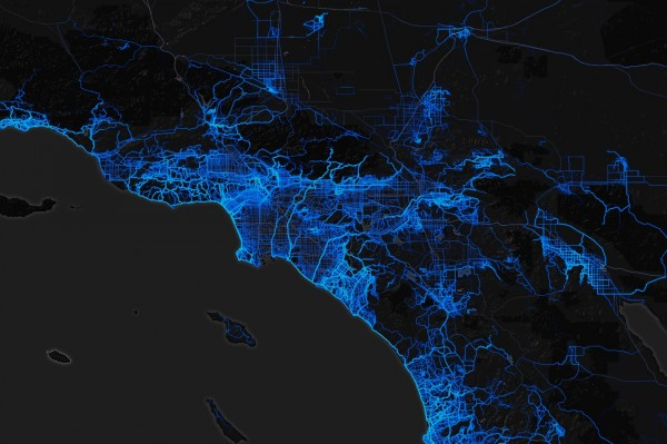 Heat map of the LA area. I'm studying it.