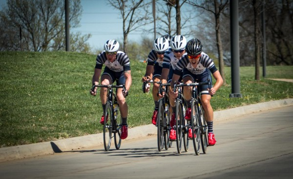 The Olathe Subaru TTT on Sunday. I am the little gray helmet on the back.