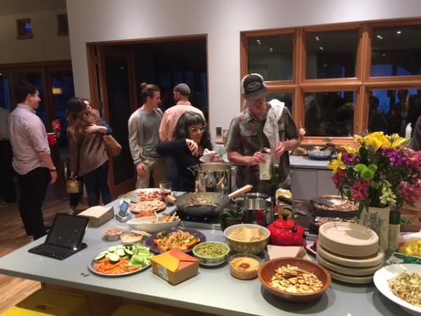 Matt cooking.