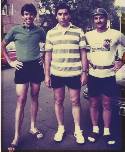 Joe Martin on the left, with Eddy Merckx in the center. Pretty cool photo.