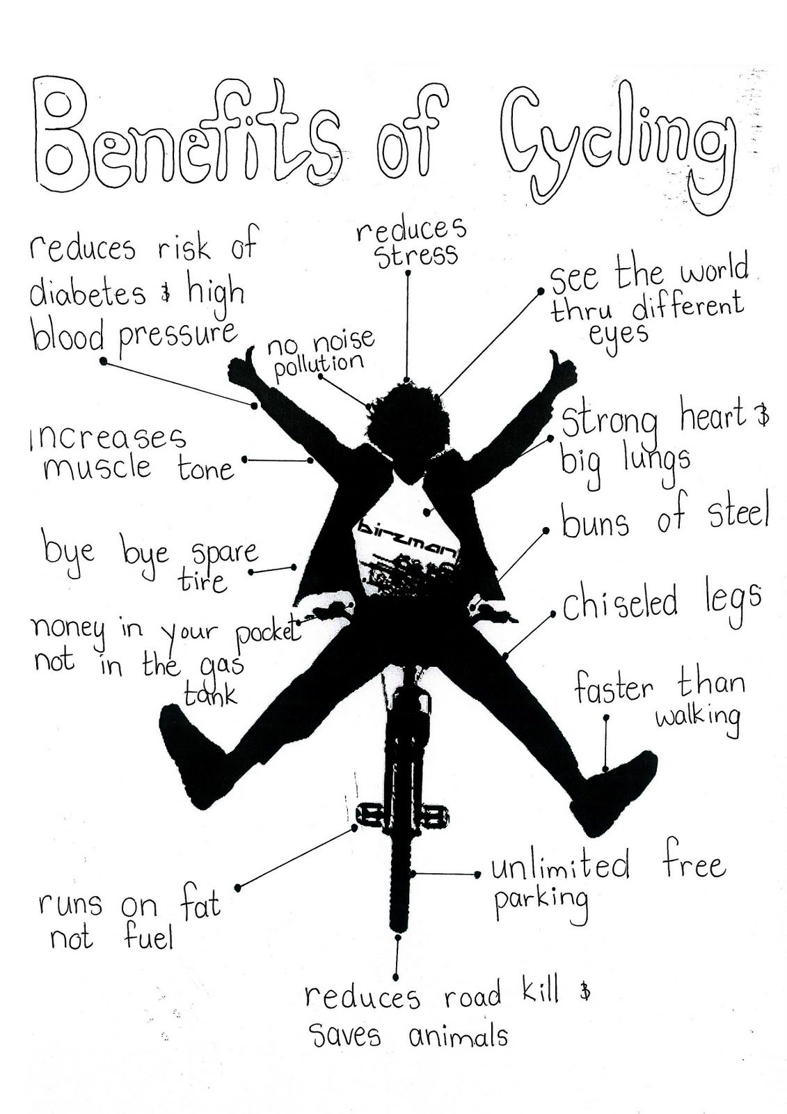 These are the benefits of cycling that might be classified as healthy.
