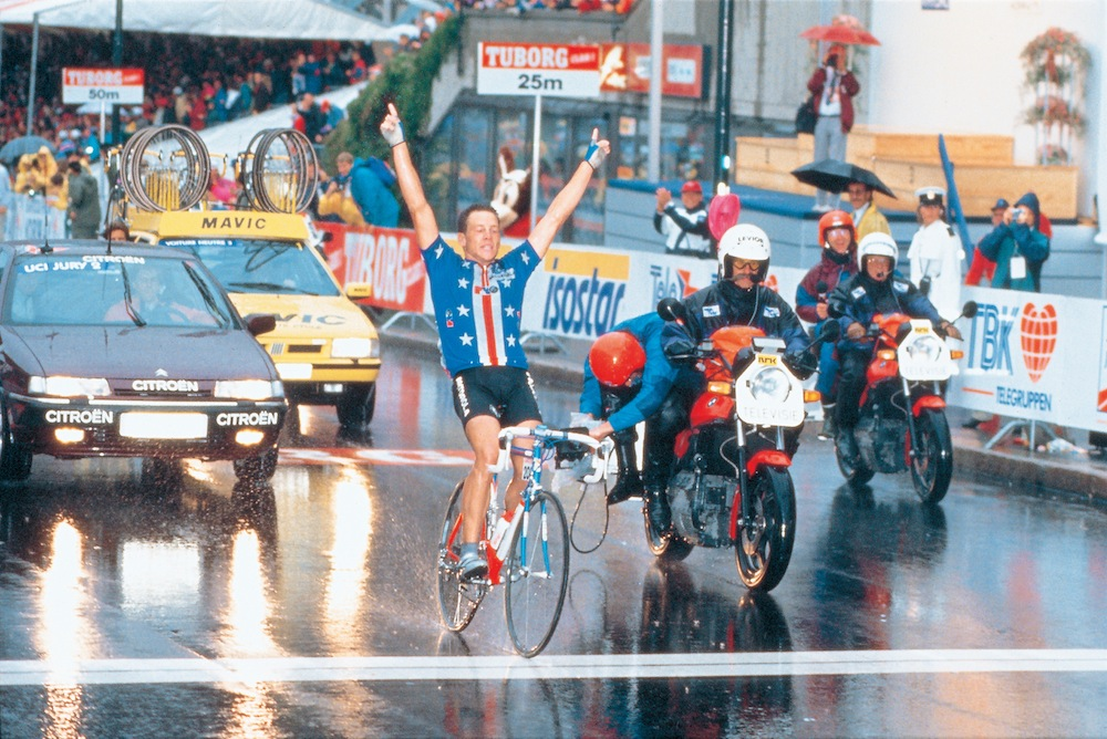 Lance winning the World in 1993.