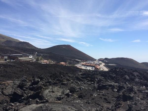 Hotel up on Mt. Etna.