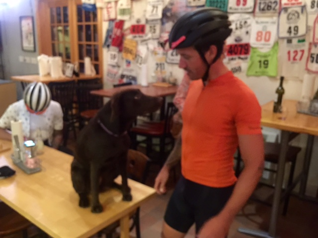 Jesse LaLonde rolled into Cable after 10 last night with a couple of his buddies.  They are riding from MSP to Copper Harbor at the tip of the UP of Michigan.  It is over 400 miles that they are doing in two days.  Did I mention most of it is on gravel and trails.   Pretty great adventure.