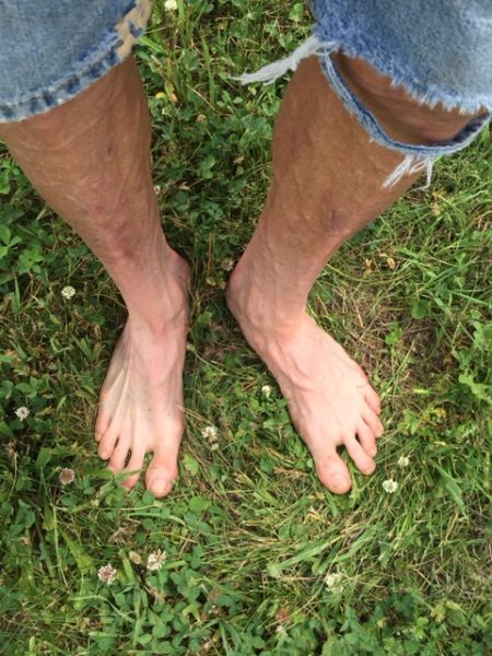 My feet are a little white from no sun. That is going to change.