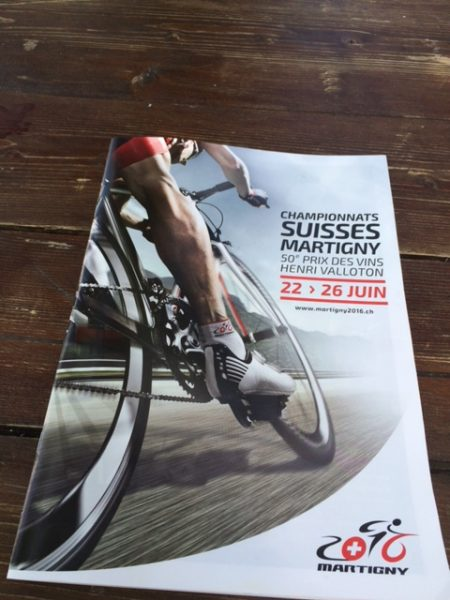 Program from today's Swiss National Road Championships.