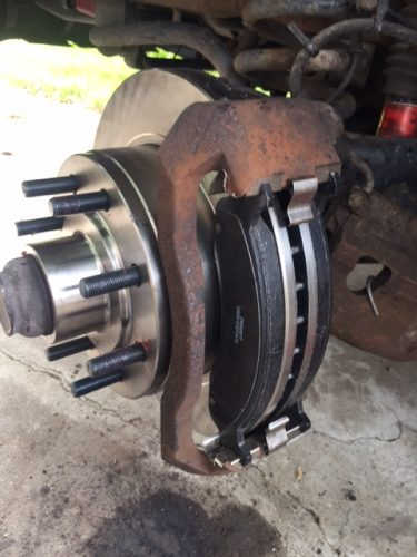 I really feel satisfied after changing brakes.  It is rewarding getting rid of those old rusty, pitted rotors and having new ones.