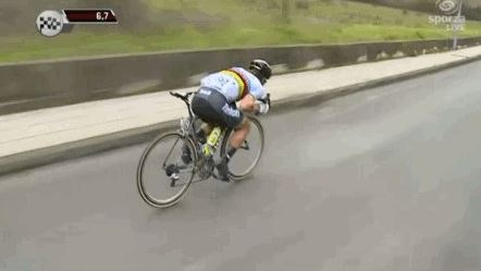 Peter Sagan this position, in my mind, and he stays further back normally.