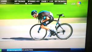 Chris Froome makes it look less safe than it is. He is way too forward, too much weight on his front wheel.