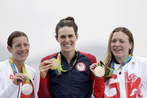 Gold medalist Gwen Jorgensen.