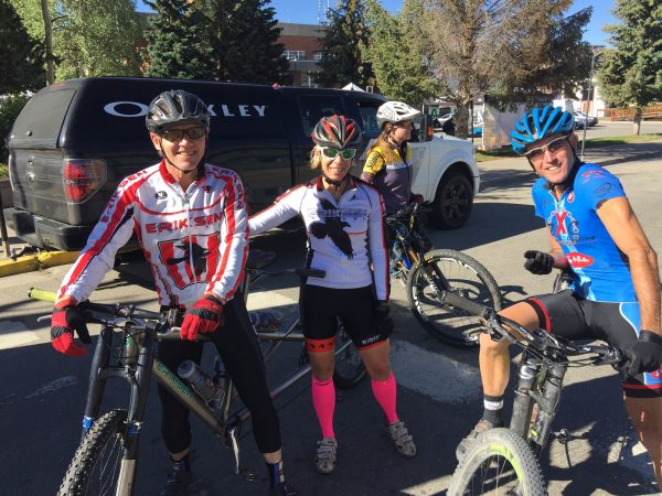 Pre-riding Leadville some yesterday with the Eriksen's and Vincent.