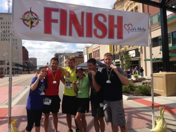Catherine, Eric and Bill's team won the Downtown Adventure Race yesterday morning.   Bill carried a Garmin with him and I heard it was over 5 miles of running.  They are going to be sore, either today or tomorrow.
