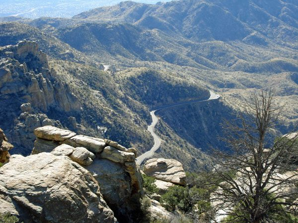 I've ridden Mt. Lemmon since. Back then I might have had only a 19 in the rear, with a 42 small front ring. It was probably a little hard.