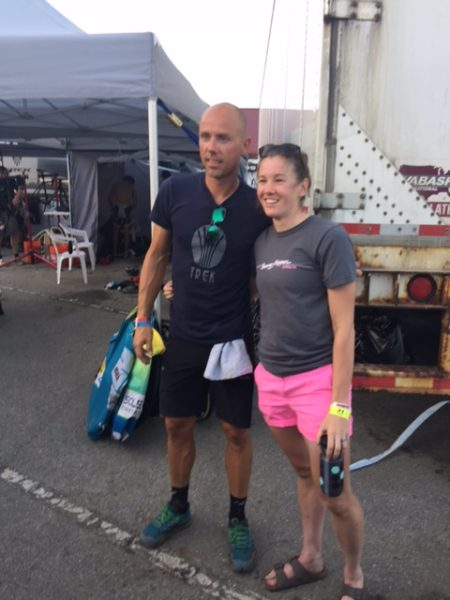 This is Abby Krawczyk and Sven Nys. Abbey won Chequamegon last weekend.