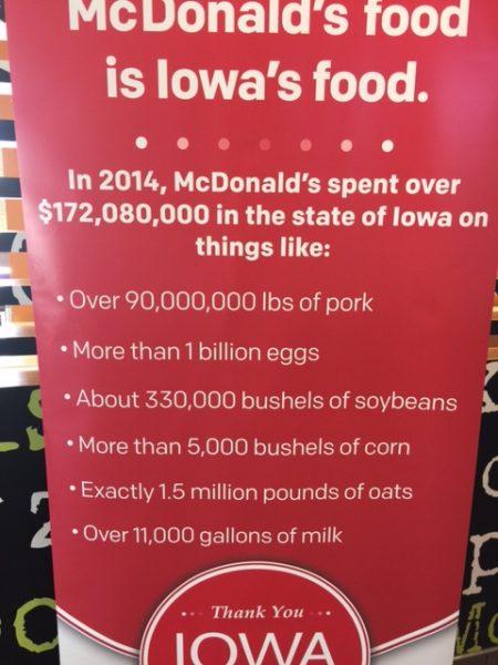 Big numbers at McDonalds. Crazy.