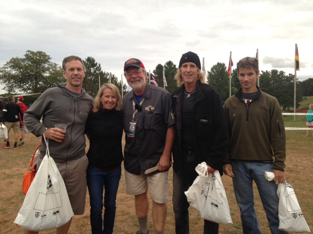The Fatman and the Kansas gang last year at Chequamegon sign-in.