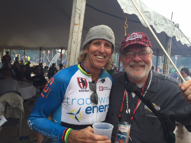 Gary Crandall, Mr. Chequamegon and I after the race.
