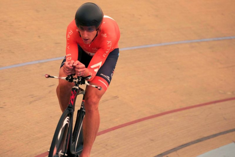 Tom Zirbel on his way to a new US Hour Record in Mexico.