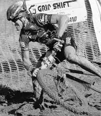 I was looking for the Fatboy photo and saw this one. It is one of my all time favorites. Sea Otter, once again. I was winning overall. This was the dirt criterium, which was really a mudfest. Lots of great photos from that event.