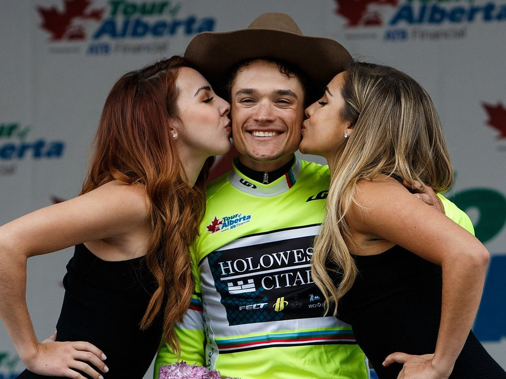 Robin Carpenter winning the overall at the Tour of Alberta.