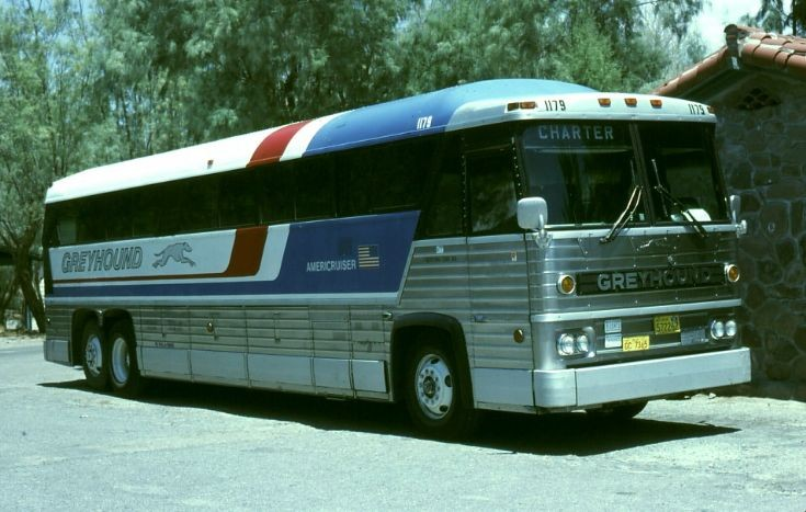 This is what a bus looked like back then.