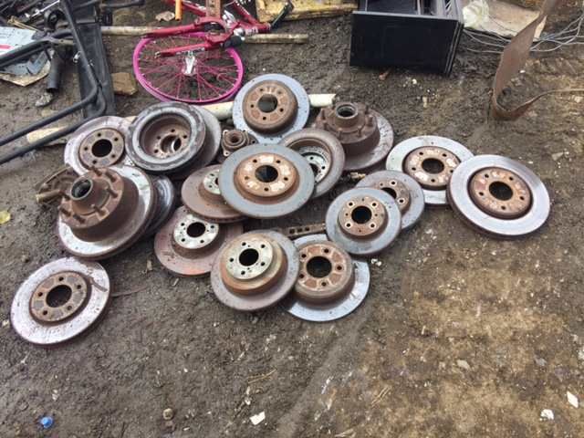 Pile of brake rotors I took to recycle yesterday. I guess I'd been stocking them up for a while.