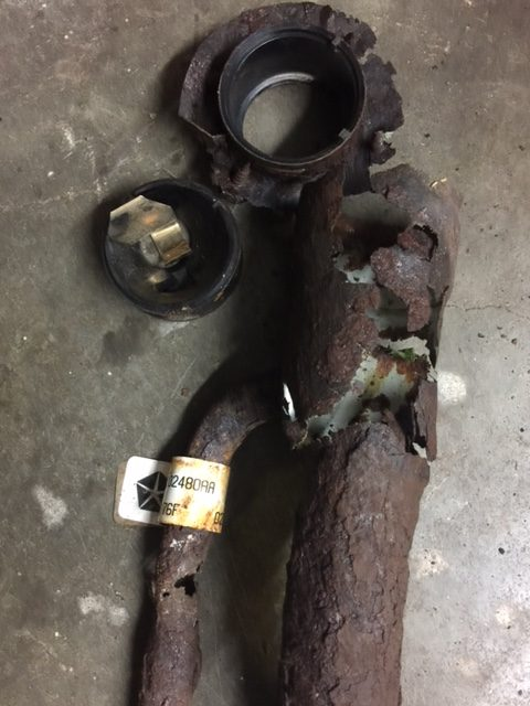 Gas filler neck I replaced. How rusted was this?