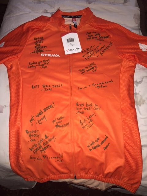 Strava jersey that showed up yesterday.