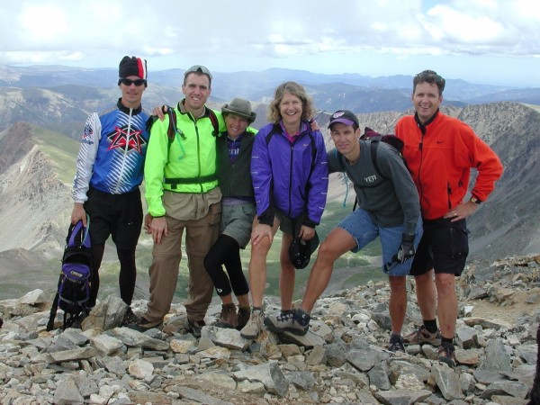 This is a group from Topke out in Colorado hiking. Bill, Vincent, Catherine, Glenda, Brian and Keith.